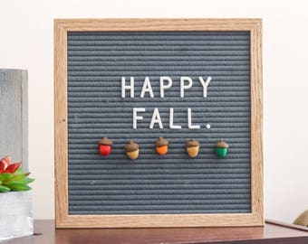 FALL Letter Board Ornaments (Pack of 5- ACORNS) / Felt Letter Board Accessories / Fall Decor