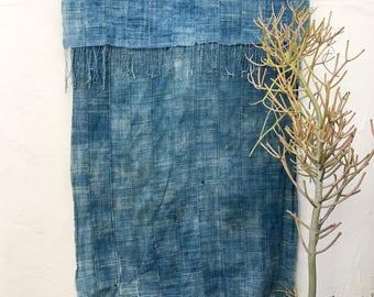 Indigo Blue African Fabric   Vintage Textile Indigo mudcloth African Indigo Cloth African Fabric Indigo fabric Indigo Throw Beach Blanket 96