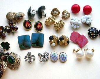 Vintage Earring Singles  - Broken Earring Destash - Craft Earrings