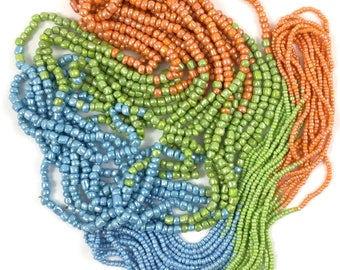 Glass Beads - 11/0 & 6/0 - 3 Colors Multi Strands,