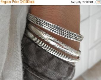 10%0FF Sterling silver Cuff bracelet crown design - pattern sterling cuff - 925 solid sterling silver -