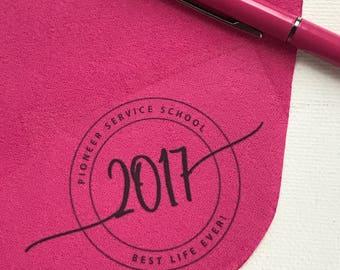 Set of 25 Custom Pioneer Service School Gift - Lens Cloth with Round Edge