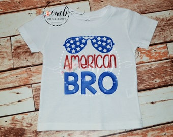 American Bro 4th of July themed Shirt / Boys July 4th Shirt / Boy Tee Shirt / Bodysuit / Patriotic Shirt / 4th of July Shirt / Brother