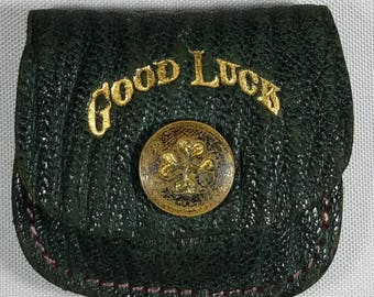 Vintage Tiny Good Luck Coin Purse