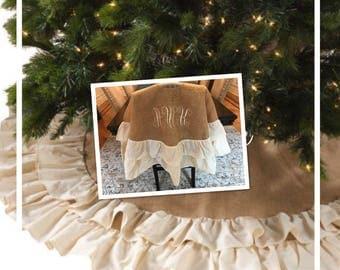 Christmas Tree skirt | Burlap Tree Skirt | Ruffle Tree Skirt | Monogrammed Tree Skirt | Christmas Tree Skirt | Personalized Tree Skirt