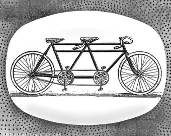 Bicycle built for two platter or plate