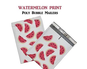 "On Sale 100Pack -8.5x12"" Watermelon Poly Bubble Mailer Self-Seal Easy-Open Tab Business Envelope Standard Mailer Size #0 Protective Shipping"