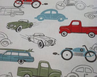 Vintage Cars (Blue/Green/Red) Changing Pad Cover