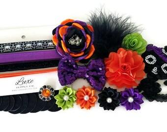 Halloween Headband Kit - DIY Halloween Baby Headbands - Baby Shower Headband Station - Baby Headbands - Halloween Crafts  - SHK1165