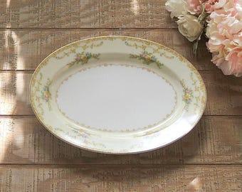 Antique Noritake Mimi Large Platter Meat Platter Cottage Style Elegant Tea Party Ca. 1933