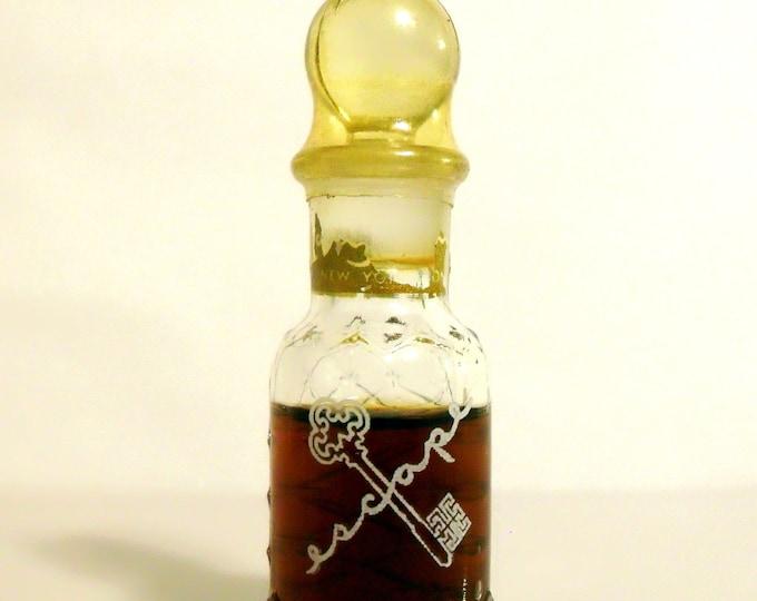 Vintage Perfume Antique 1940s Escape by Mary Dunhill 0.25 oz Pure Parfum Bottle Mini Miniature