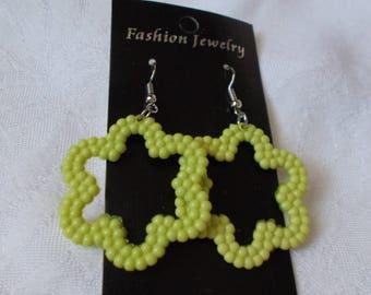 Funky Flower Pierced Earrings-R3945