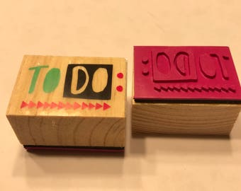 To Do rubber stamp, 1 1/4 inch (BB4/9)