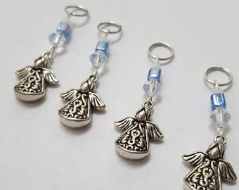 Angel Stitch Markers - Set of 4