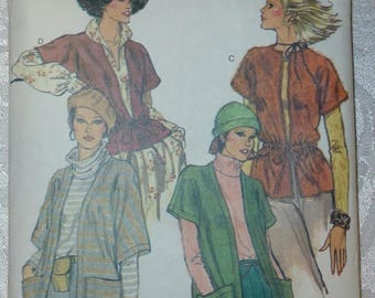 Vintage Very Easy Vogue Pattern 9915 for Misses' Jacket Size Medium 12-14