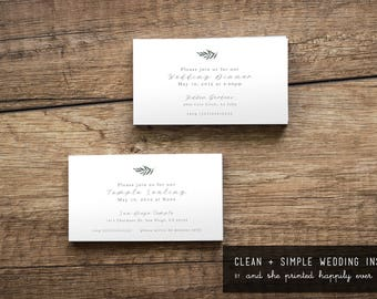 Clean + Simple {LDS Temple Sealing Insert}
