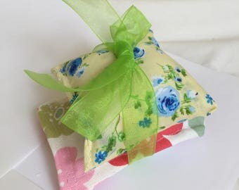 Handmade Lavender Cushions includes one with Cath Kidston fabric lavender sachets cotton scented draw sachets ideal for a scented gift
