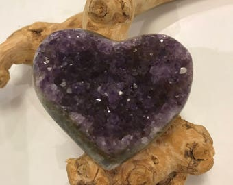 Amethyst Heart Cluster - FREE SHIPPING TO U.S. only