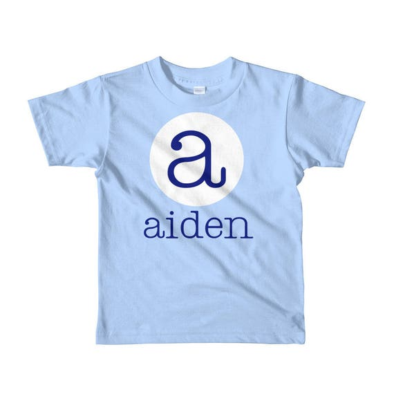 Personalized name and initial tee shirt Short sleeve kids t-shirt Luna B Tee Toddler Size 2T 4T 6