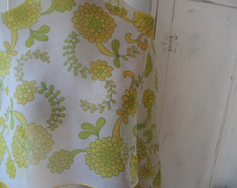 Vintage 1960s sheer scarf by Baar & Beards Inc all silk made in Japan yellow floral 15 x 44 inches