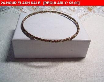 vintage 3 tone metal bracelet, estate jewelry