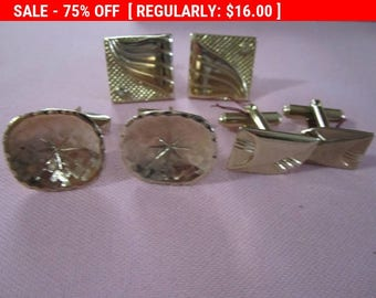SALE Vintage Cufflinks, lot of cufflinks, mens jewelry, retro, vintage lot D
