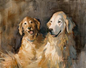 Golden Retrievers Giclée Fine Art Print