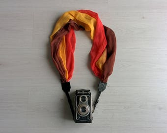 Camera strap Ombre camera strap Camera strap Scarf camera strap DSRL camera strap Photography prop Camera accessories ON SALE Ready to ship