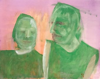 My Best Friend Was a Liar Who Didn't Know We Were Friends — Acrylic on canvas panel