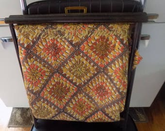 Small Vintage Wood frame folding knitting / sewing basket