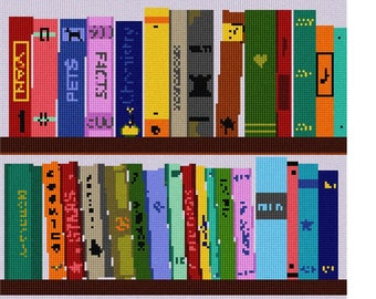 Needlepoint Kit or Canvas: My Books