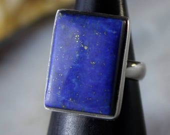 Lapis Lazuli setting pure 925 sterling silver ring