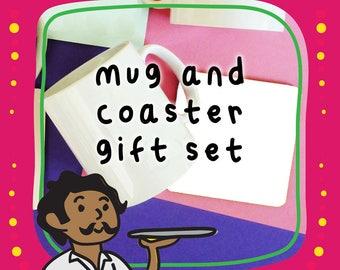 Mug and Coaster Gift Set With Greeting Card Gift Set