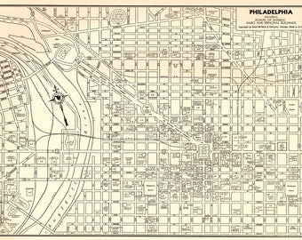 Philadelphia map  Etsy