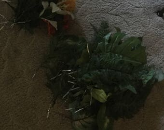 Large Bunch of Vintage Greenery/Leaves/Flowers For Arrangement Making/Crafts