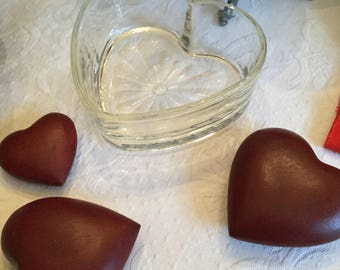 Beautiful Clear Glass Heart Shaped Dish/Bowl-Candy/Serving