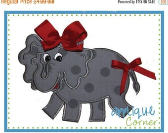 40% OFF 843 Elephant Girl Full Body applique design in digital format for embroidery machine by Applique Corner