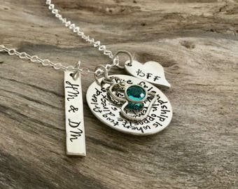 Best Friend Necklace | Best friend long distance necklace|Unique Friendship Gifts |Friendship Jewelry|Personalized Necklace |Sterling Silver