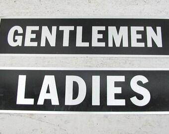 Vintage Bathroom Sign Etsy