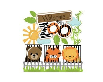 Die cuts, zoo die cuts, scrapbook die cuts, scrapbook embellishment, zoo scrapbook embellishment, zoo, paper piecing, card making