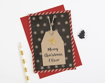 Husband Christmas Card - personalised - brother sister mum dad grandparents friend