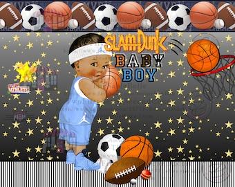 Slam Dunk All Star Chip /Treat Bag Digital Print DIGITAL DOWNLOAD .PNG
