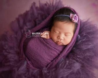flokati filler purple 100 wool newborn baby children photo prop round rug