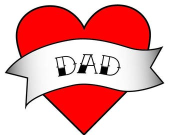 Dad to be Baby Shower - Dad and Baby Matching Gift - Dad Temporary Tattoo - Dad Gifts - Dad Birthday Gift - Dad Birthday - Dad to Be