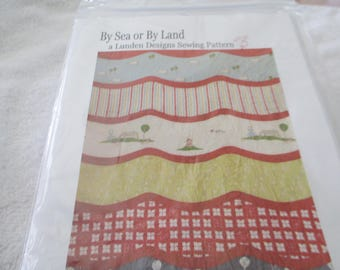 """Paper Pattern for a quilt called By Sea or By Land by Linden Designs 38"""" x 52"""""""