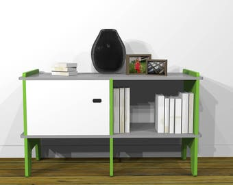 Sideboard design Retro wooden two lockers