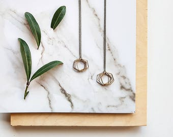 Magnus | Hexagon Necklace