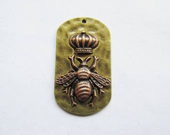 Queen Bee dog tag pendant #RM177