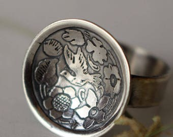 dove sterling silver ring, DOVE, bird silver ring, promise bird ring