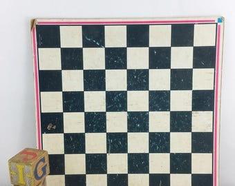 SUMMER SALE Vintage Checkerboard